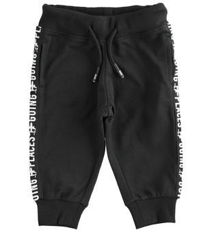 Pantalone in felpa con tape parlante ido NERO-0658
