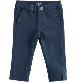 Comodo pantalone in twill cotone stretch ido NAVY-3885