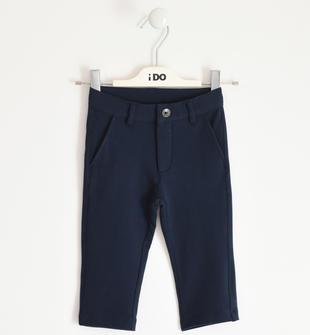 Pantalone per cerimonia in felpa stretch ido NAVY-3885