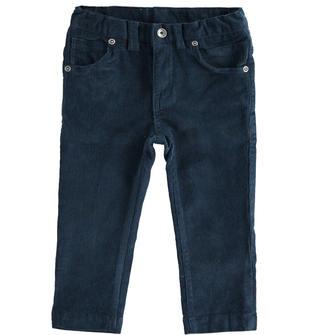 Pantalone in velluto modello cinque tasche ido NAVY-3885