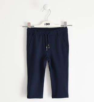 Pantalone in morbido tessuto crêpe per bambino ido NAVY-3885