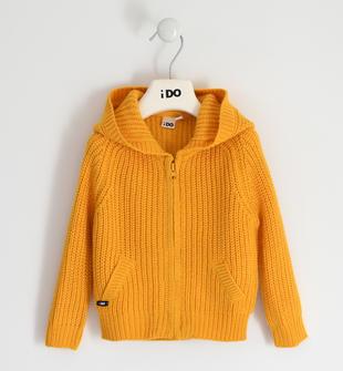 Semplice e versatile tricot full zip ido GIALLO-1615