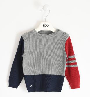 Tricot invernale girocollo 100% cotone ido GRIGIO MELANGE-8970
