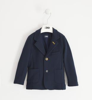 Giacca modello blazer per bambino in felpa di cotone stretch ido NAVY-3885