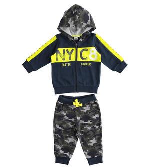 Tuta due pezzi per bambino in jersey pesante misto cotone ido NAVY-3885