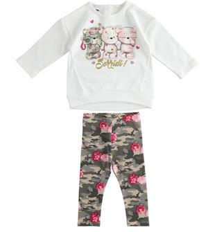 Completo maxi maglia e leggings camouflage ido PANNA-0112
