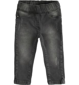 Pantalone in denim stretch ido GRIGIO CHIARO-7992
