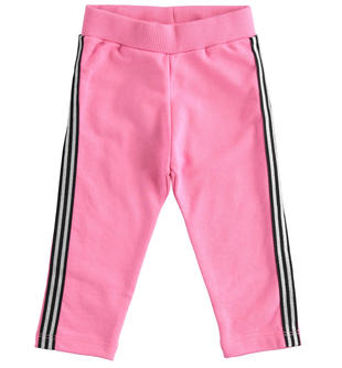 Pantalone in felpa con bande laterali lurex ido ROSA-2441