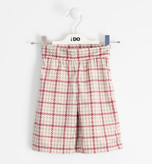 Caldo pantalone effetto scamosciato ido BEIGE-BORDEAUX-6NU7
