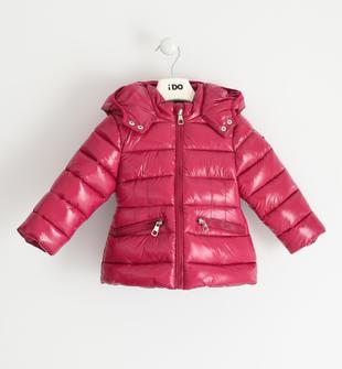 Giubbotto invernale bambina in nylon impermeabilizzato lucido trapuntato ido MAGENTA-2681
