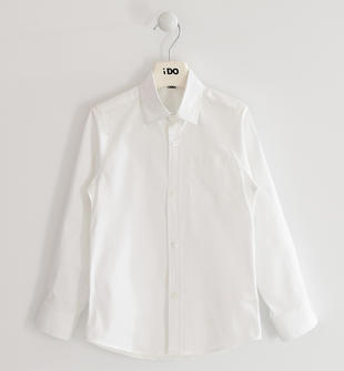 Camicia classica in popeline stretch ido BIANCO-0113