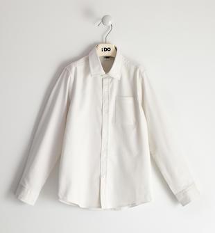 Camicia in tessuto oxford con pochette ido BIANCO-0113