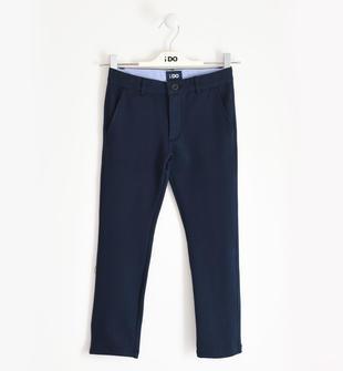 Pantalone classico in felpa di cotone ido NAVY-3885