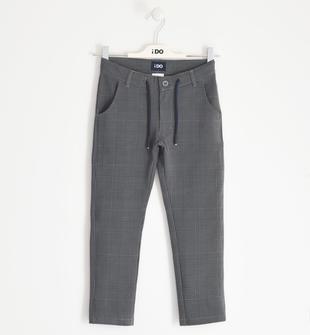 Elegante pantalone invernale in felpa ido GRIGIO-BLU-6NJ6
