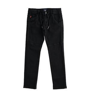 Pantalone bambino in twill di cotone stretch ido NERO-0658