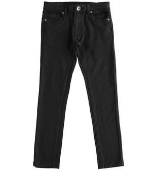 Pantalone classico in maglia effetto twill ido NERO-0658
