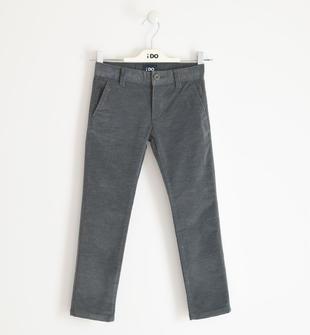 Elegante pantalone slim fit in twill ido GRIGIO SCURO-3829