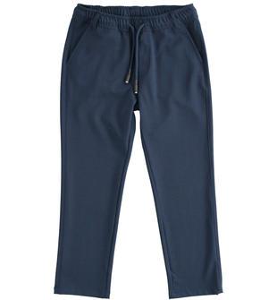 Pantalone modello jogger per bambino ido NAVY-3885