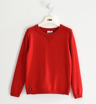 Versatile maglia in tricot misto cotone ido ROSSO-2253