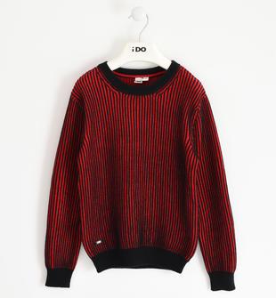 Maglia girocollo in tricot 100% cotone ido ROSSO-2253