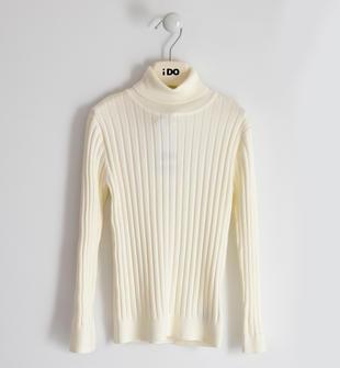 Maglia tricot bambina misto viscosa stretch ido PANNA-0112