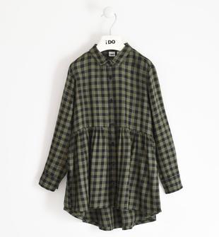 Camicia per bambina a quadretti ido VERDE MILITARE-5557