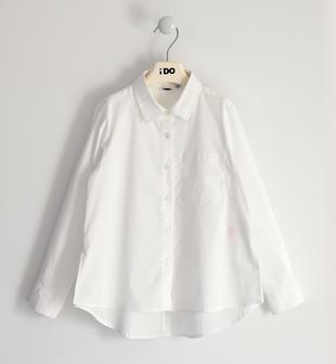 Camicia per bambina in popeline stretch ido BIANCO-0113