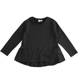 Felpa in jersey 100% cotone effetto abito ido NERO-0658