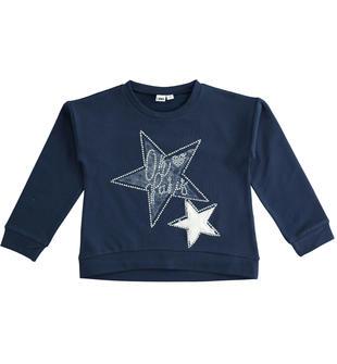 Felpa invernale girocollo con stelle ido NAVY-3854