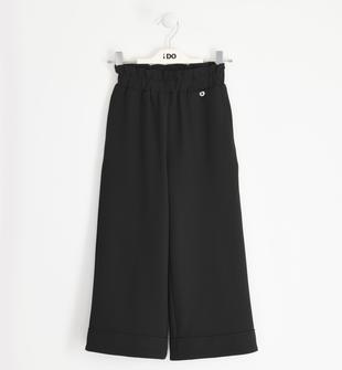 Elegante pantalone in crêpe ido NERO-0658