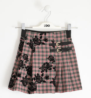 Gonna modello kilt con rose ido BEIGE-0941