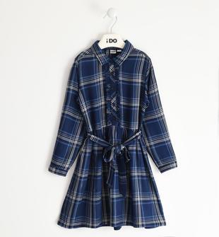 Abito camicia bambina in morbida viscosa ido NAVY-3854