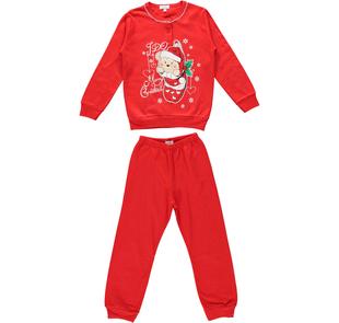 Pigiama con orsacchiotto Merry Christmas per bambini ido ROSSO-2253