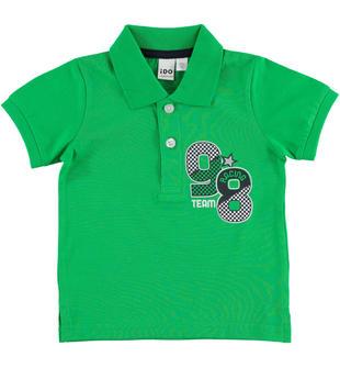 Polo in jersey 100% cotone ido VERDE-5155
