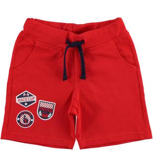 Pantalone corto in jersey 100% cotone ido ROSSO-2256