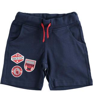 Pantalone corto in jersey 100% cotone ido NAVY-3854