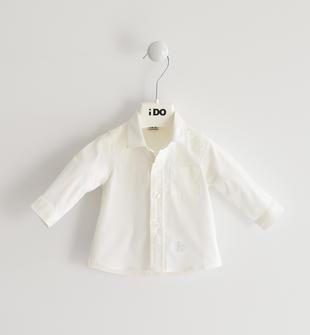 Camicia classica in popeline a manica lunga ido BIANCO-0113