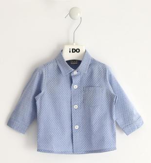 Camicia classica in popeline 100% cotone ido CELESTE-3634