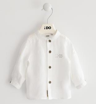 Camicia 100% lino per neonato ido BIANCO-0113