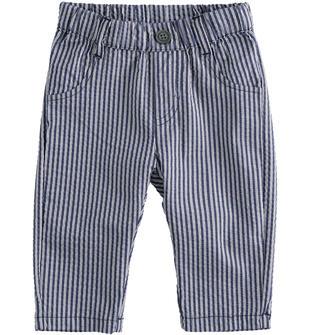 Elegante pantalone in cotone rigato ido NAVY-3885