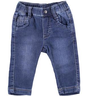 Pantalone in cotone stretch effetto denim ido STONE WASHED-7450