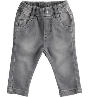 Pantalone in cotone stretch effetto denim ido GRIGIO CHIARO-7992