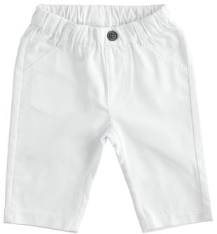 Pantalone in twill 100% cotone ido BIANCO-0113
