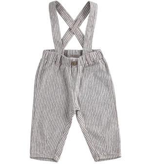 Pantalone con bretelle 100% cotone ido BEIGE-0416