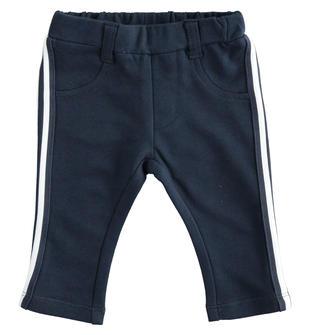 Pantalone lungo in felpa leggera con banda rigata ido NAVY-3885