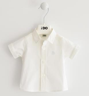 Camicia a manica corta in popeline stretch ido BIANCO-0113