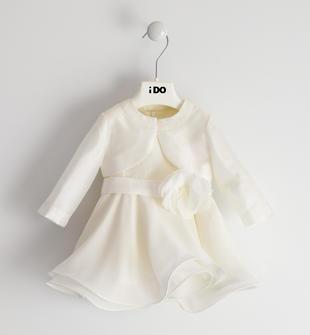 Elegante abito con raffinato coprispalle ido PANNA-0112