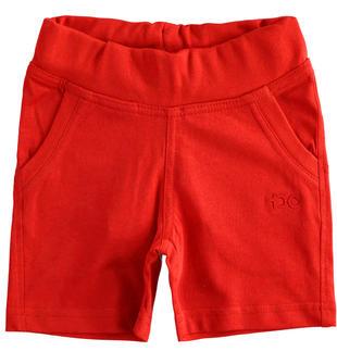 Pantalone corto in felpa tinta unita ido ROSSO-2256