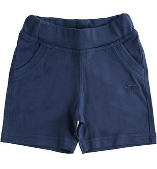 Pantalone corto in felpa tinta unita ido NAVY-3547