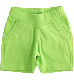 Pantalone corto in felpa tinta unita ido GREEN-5134